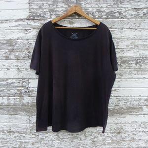 No. 360 Well Worn Black Distressed Black T-Shirt